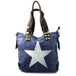 stylová moderní modrá taška na rameno military three