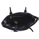 Černá lesklá kabelka Moline