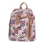 Batoh K-Fashion British – růžový
