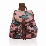 Batoh Retro Butterfly Dream – růžový zelená