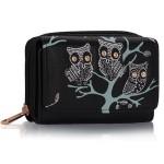 Peněženka Fashion Only Owl – černá černá