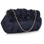 Psaníčko Fashion Satin Rose – modré modrá