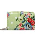Peněženka Floral Vintage – světle zelená
