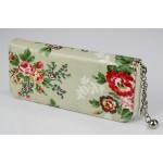 Peněženka Retro Floral – šedá