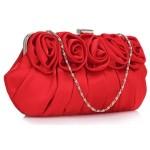 Psaníčko Fashion Satin Rose – červené
