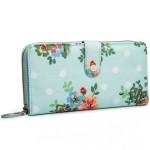 Peněženka Floral Vintage Long – světle modrá