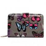 Peněženka LULU Butterfly – šedá