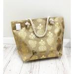 Plážová taška MOLI – zlatá zlatá