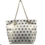 Plážová taška Fashion Only Dot – zlatá