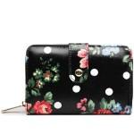 Peněženka Floral Vintage – černá