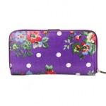 Peněženka Floral Vintage Long – fialová