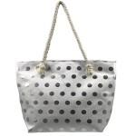 Plážová taška Fashion Only Dot – stříbrná stříbrná