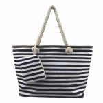Plážová taška Fashion Only Stripe modrá