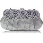 Psaníčko Fashion Satin Rose – stříbrné
