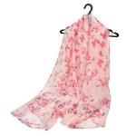 Šátek Butterfly Flowers – růžový