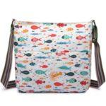Kabelka Korra Fish Mania – bílá