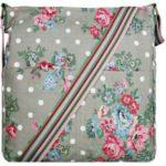 Kabelka Korra Floral Vintage – šedá růžová