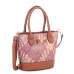 Kabelka Borse Liza – fialová růžová