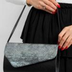 Dámská černostříbrná kabelka