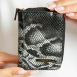 Dámská černá kožená peněženka
