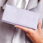 Dámská světle fialová peněženka s vnější přihrádkou na háček