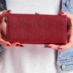 Švestková peněženka s kapsou