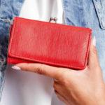 Dámská červená peněženka s přihrádkou