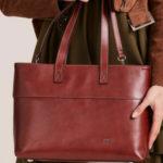 Hnědá kožená nákupní taška