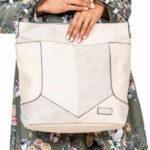 Dámská béžová taška s prošíváním