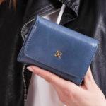 Dámská modrá peněženka z umělé kůže