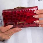 Dámská peněženka se vzorem tmavě červené