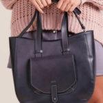 Šedá městská dámská taška