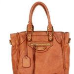 Přírodní kožená taška model 156671 Mazzini