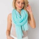 Modrý jednobarevný dámský šátek