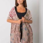Tmavě béžový bavlněný vzorovaný šátek
