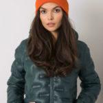 Dámská oranžová čepice