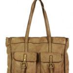 Přírodní kožená taška model 149867 Mazzini