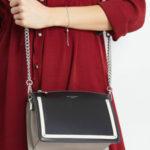 Malá černá a šedá kabelka