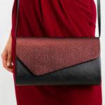 Černofialová dámská kabelka