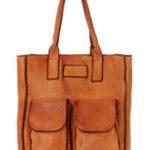 Přírodní kožená taška model 149475 Mazzini
