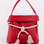 Dámská červená taška s kravatou