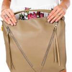 Velbloudí taška s diagonálními zipy