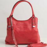 Dámská červená měkká taška
