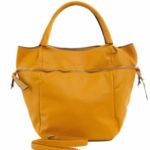 Velká tmavě žlutá dámská taška