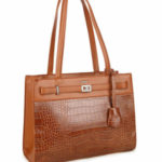 Hnědá dámská kabelka z ekologické kůže LUIGISANTO