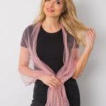 Růžový šátek s aplikací