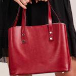 Červená elegantní kožená kabelka
