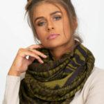 Zvířecí khaki vzorovaný šátek