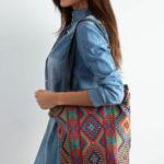 Látková taška s etnickým vzorem