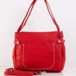 Červená dámská taška vyrobená z ekokože